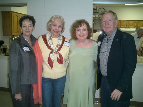 Hilda Lane, Judy Lewis, Betty Lynn, & John Lane